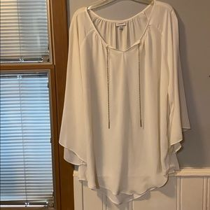 White Blouse with gold strings